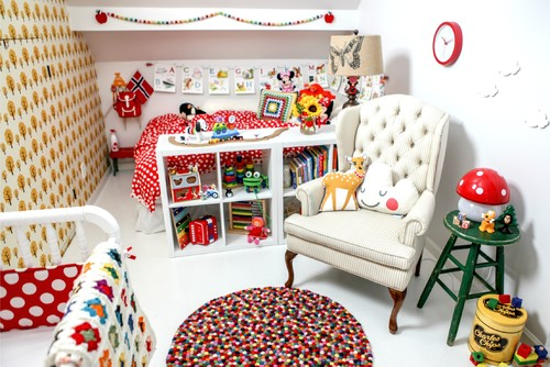 Scandinavian Retro Nursery & Playroom
