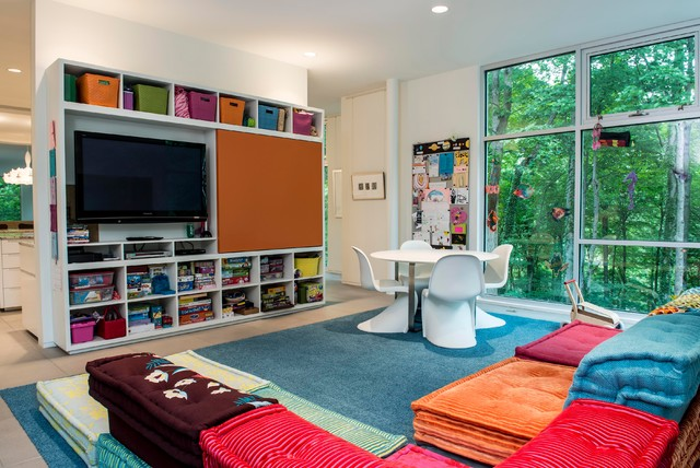 Scenic modern kids indianapolis by david rausch studio - Kids rumpus room ideas ...