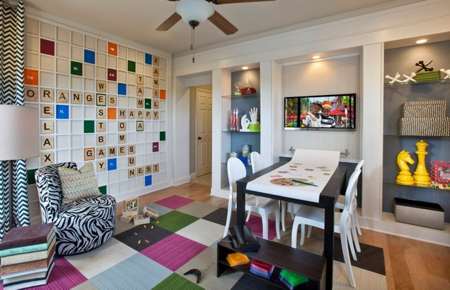 Scrabble Playroom Modern Kids Orlando By