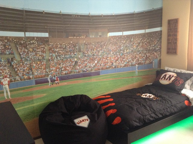 Sf Giants Baseball Theme Boy Bedroom Design Contemporary Kids
