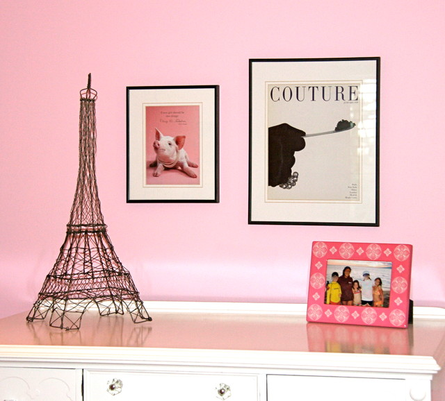 Shabby chic girl bedroom contemporary-kids
