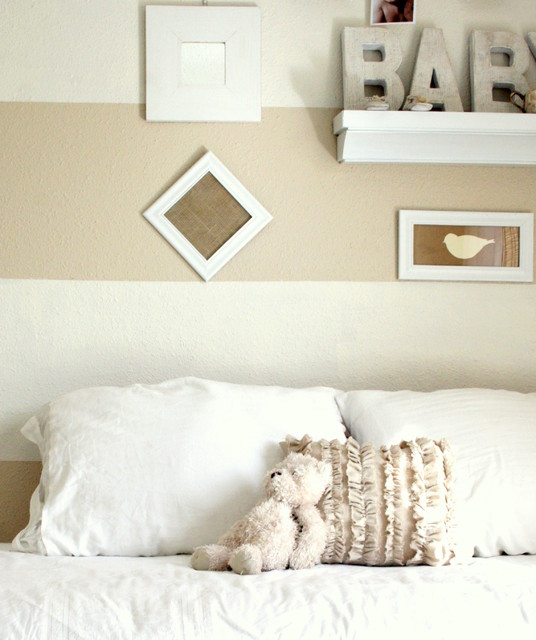 Shades Of White Baby Room traditional-kids