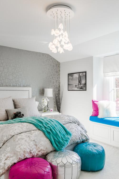 SHELL II Custom Glass Chandelier | Fun Teen Bedroom | Multi Pendant Glass Light