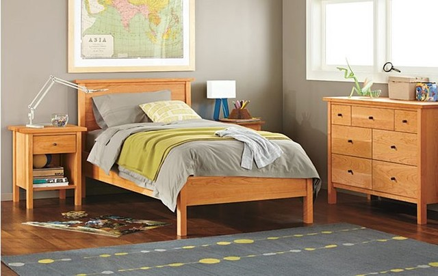 Sherwood bedroom in cherry by r b modern kids for Room and board kids