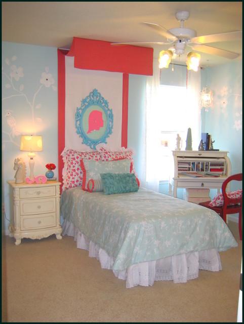Silhouette Girl's Bedroom eclectic-kids