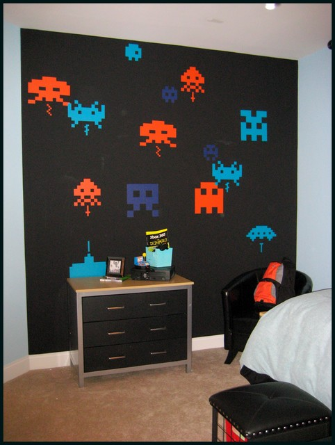 space invaders bedroom modern kids atlanta by
