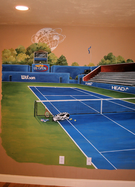 Sports Murals Kids Boston By Macmurraydesigns