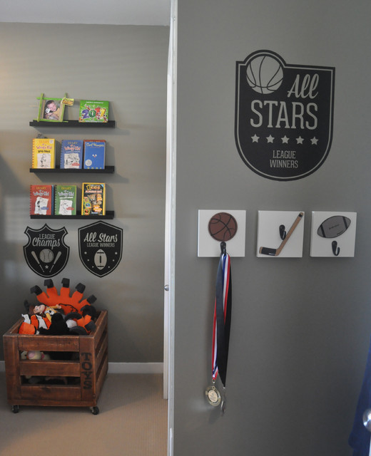 Sports Room Theme for a boys shared space transitional kids. Sports Room Theme for a boys shared space   Transitional   Kids