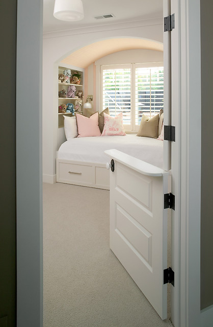Kid's Bedroom with Built-In Bed transitional-bedroom