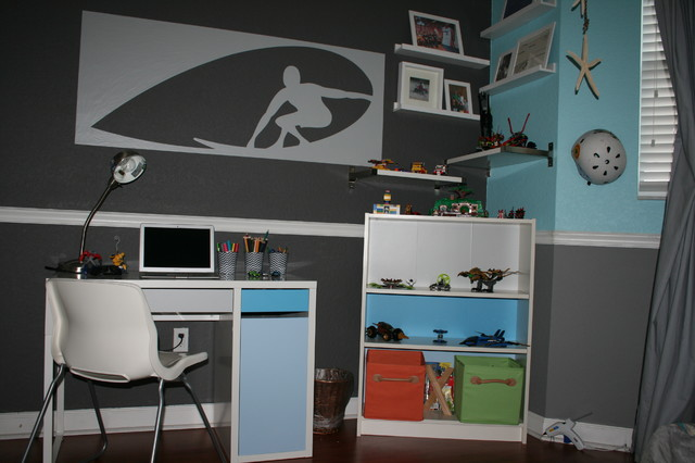 surf themed bedroom contemporary kids miami by round321