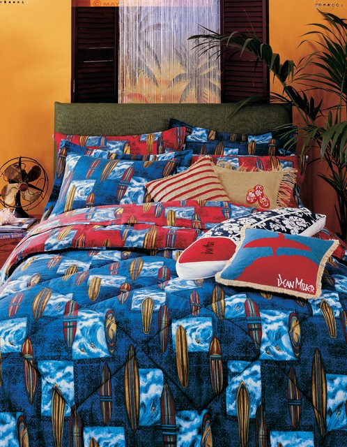 Surfboard Bedding Tropical Kids Orange County By