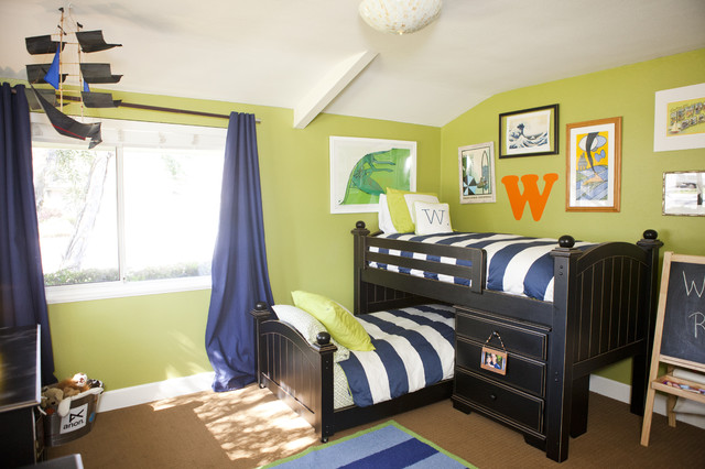Surfer Boy's Room contemporary-kids