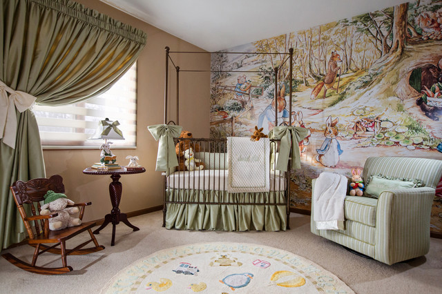 Sweet pea nursery traditional kids other metro by for Beatrix potter bedroom ideas