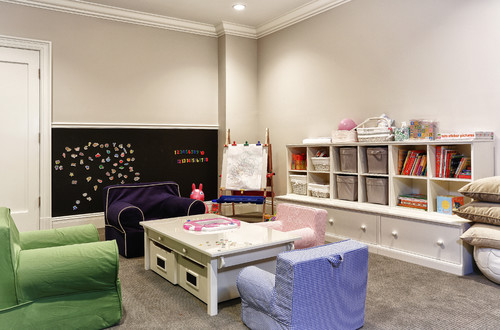 a basement remodel can be simpler when you use size appropriate furniture