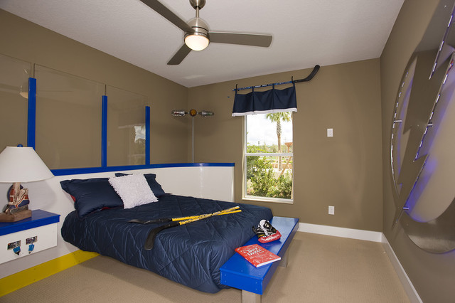 hockey room eclectic kids tampa by cardel designs