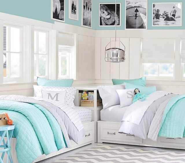 Sharing Bedroom: Teal Girls Shared Room