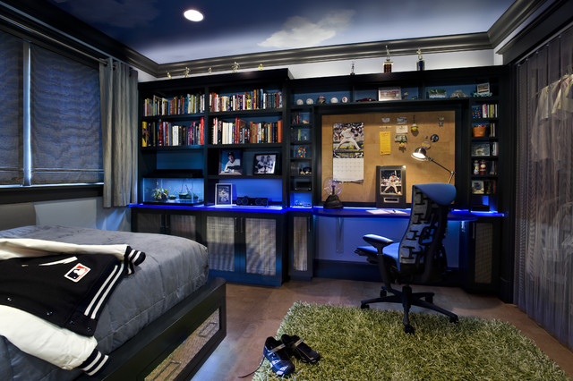 Teen Boy\'s Bedroom - Contemporary - Kids - San Francisco ...