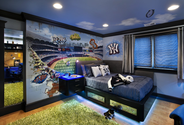 Teen Boy's Bedroom contemporary-kids