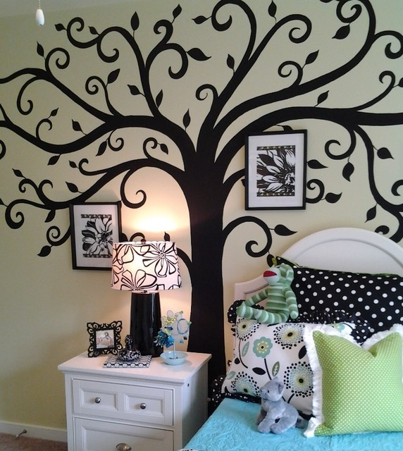Teen girl traditional kids atlanta by anita roll murals - Bedroom wall decoration ideas for teens ...