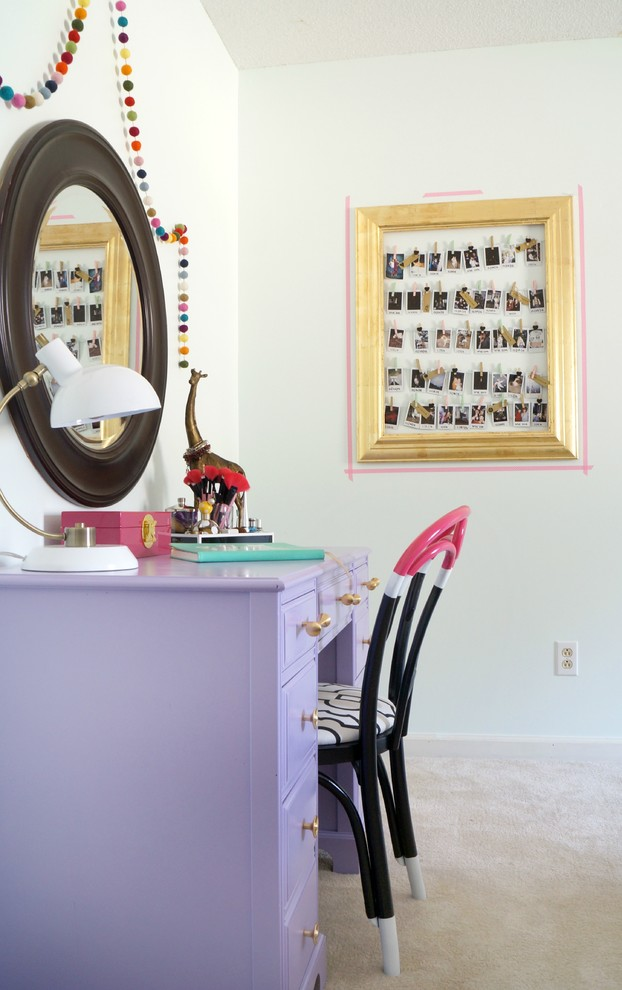 Kids' room - mid-sized eclectic girl kids' room idea in Other