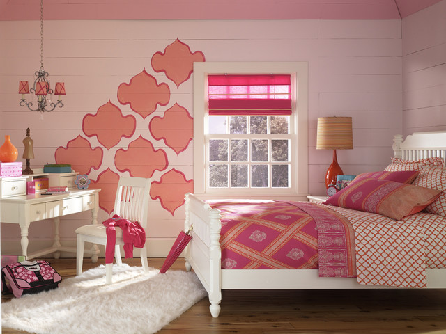 Teen Room with Bold Colors traditional-kids