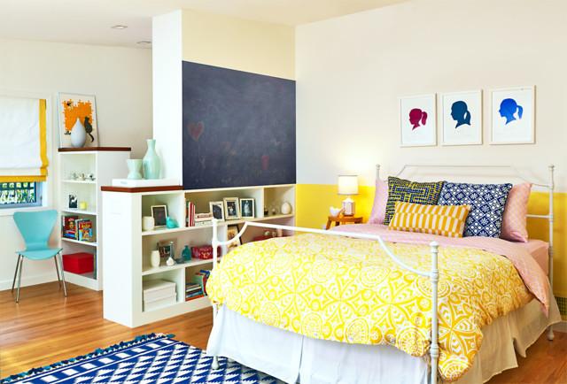 Teen Yellow Bedroom Contemporary Kids San Francisco