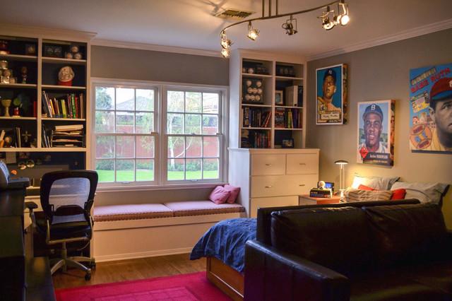 Teenage Boy S Baseball Inspired Bedroom Contemporary