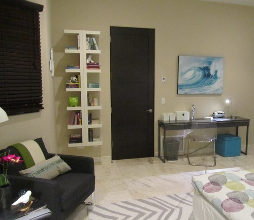 Teenage Girl Room in Turquoise and Gray