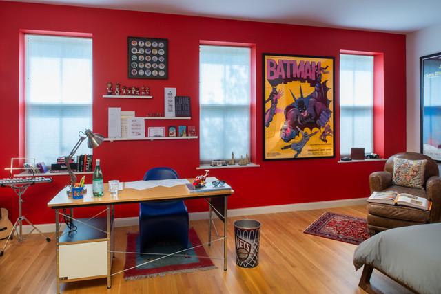Teenage Super Hero Bed Room Modern Kids New York