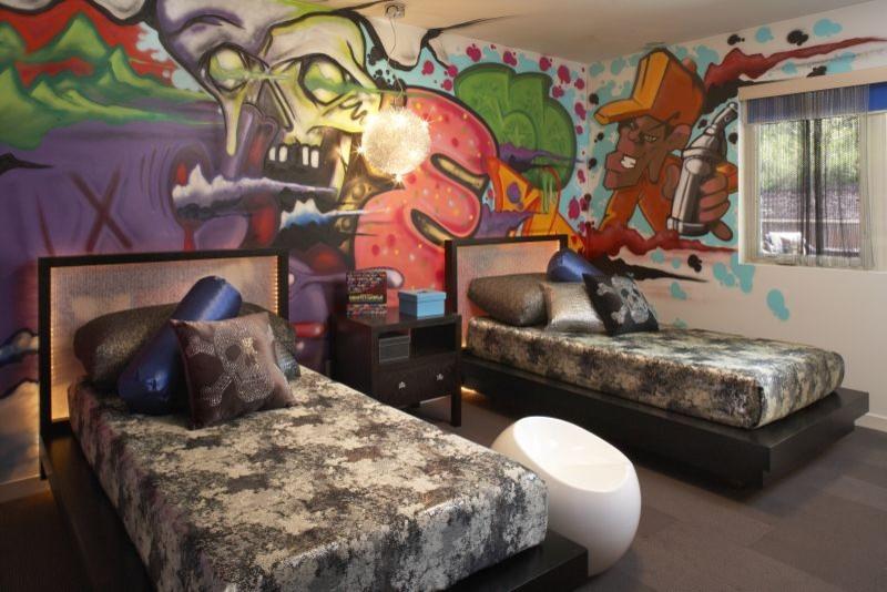 Trendy kids' room photo in Minneapolis
