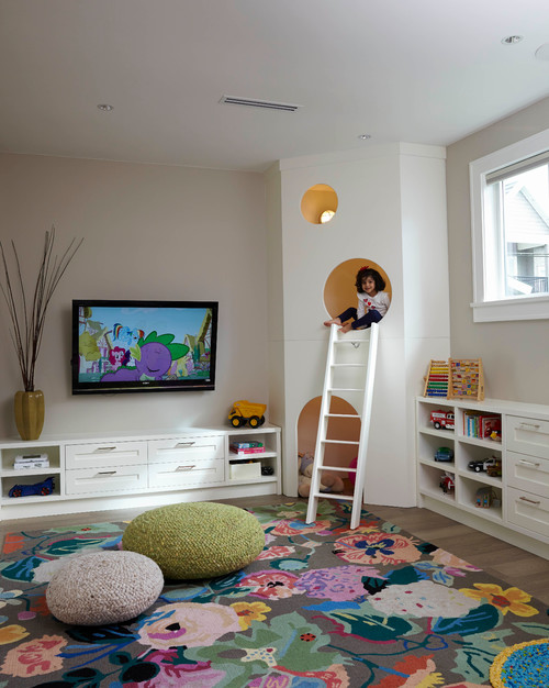Transitional Kids Playroom by Vancouver Interior Designers & Decorators MaK Interiors
