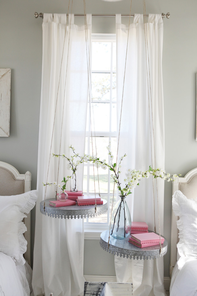 Small country girl kids' room photo in Austin with gray walls