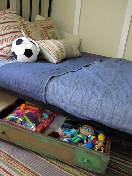 Organização embaixo da cama