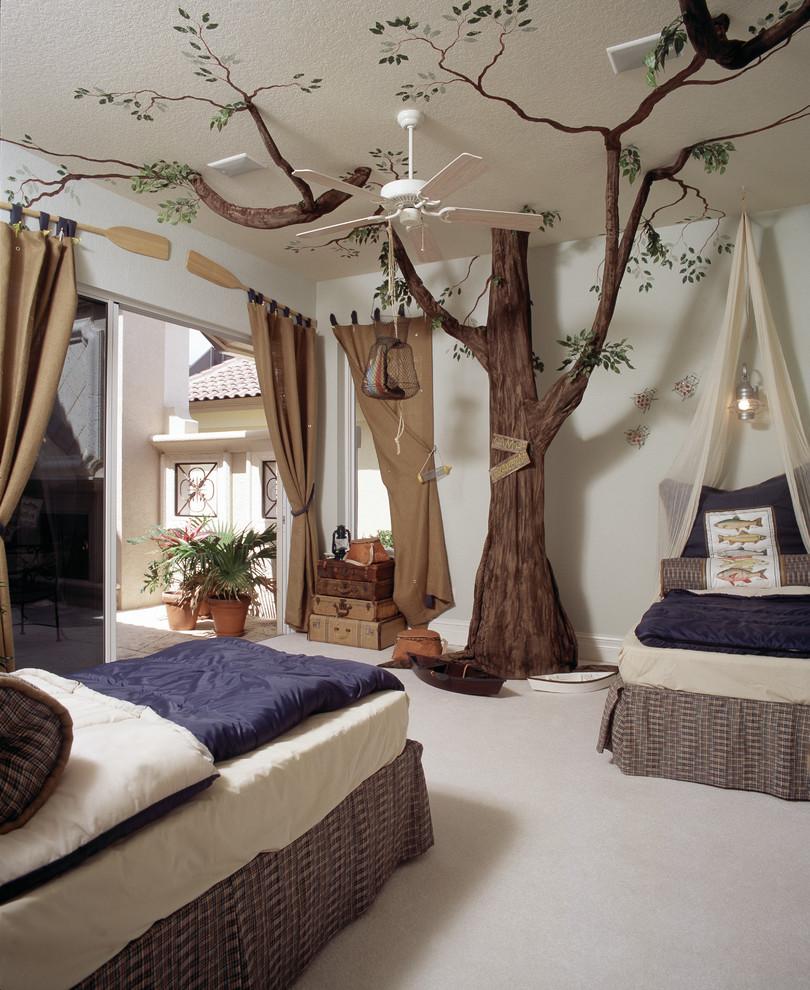 Inspiration for a mediterranean kids' bedroom remodel in Tampa