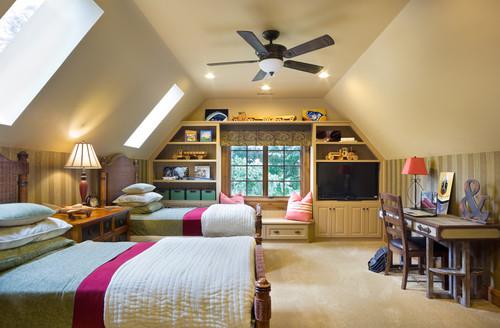 European Manor kids room design