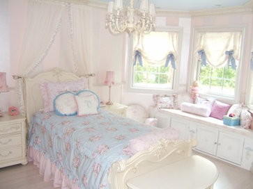 Toile Bedroom traditional kids