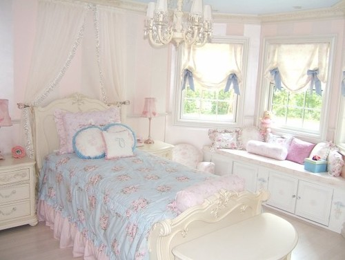 Is the walls wallpaper or pearlized paint are they pink - Pink and white striped wallpaper bedroom ...