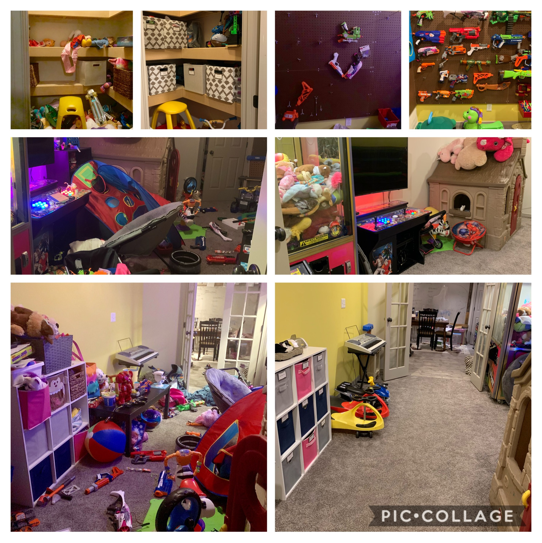 Toy room before and after