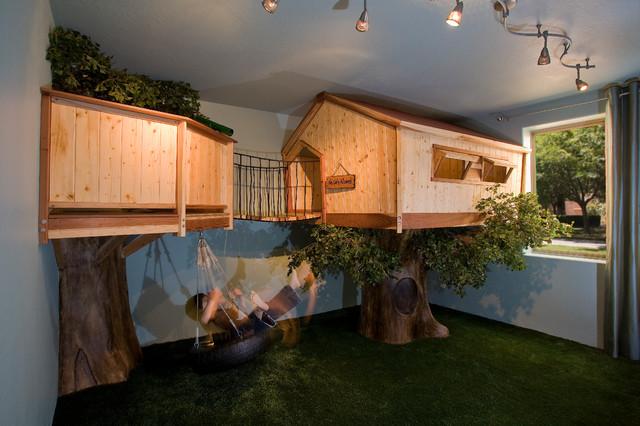 Kid S Treehouse Bedroom Traditional Kids Phoenix