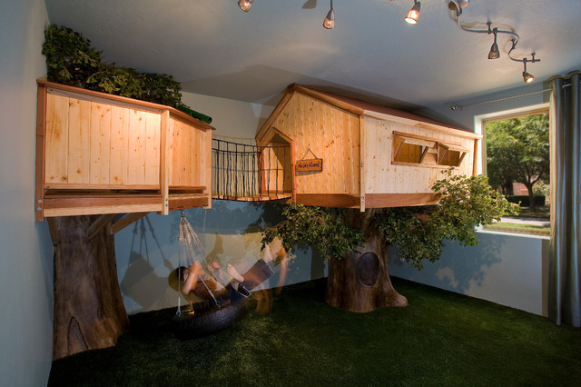 Kid's Treehouse Bedroom - traditional - kids - phoenix - by IBD Studio