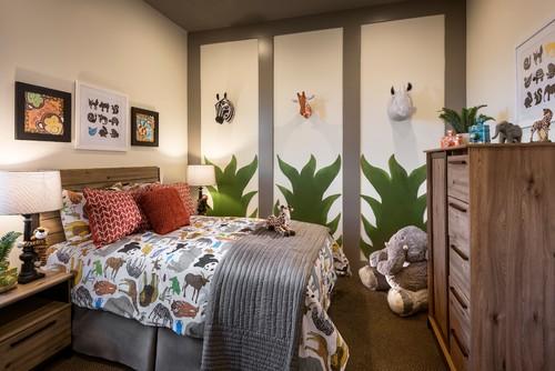 ベッドカバー・ぬいぐるみ・モニュメントなどかわいいアイテムに囲まれて過ごすことができる動物好きにはたまらない夢のような楽しいお部屋です。