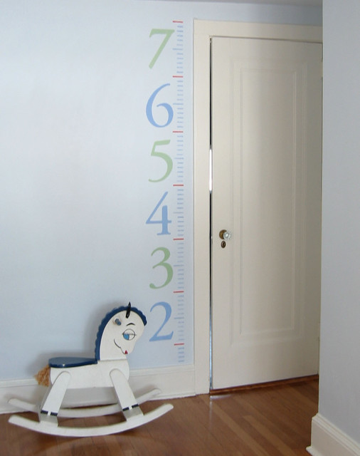 painted growth chart traditional kids