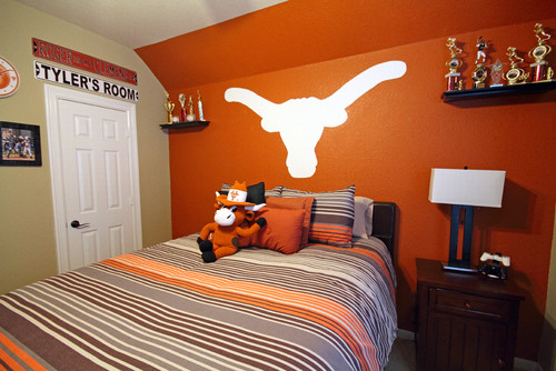 What is the burnt orange color brand and code is the for Burnt orange bedroom ideas