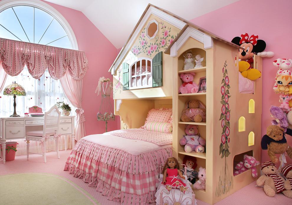 Kids' room - traditional girl kids' room idea in Newark