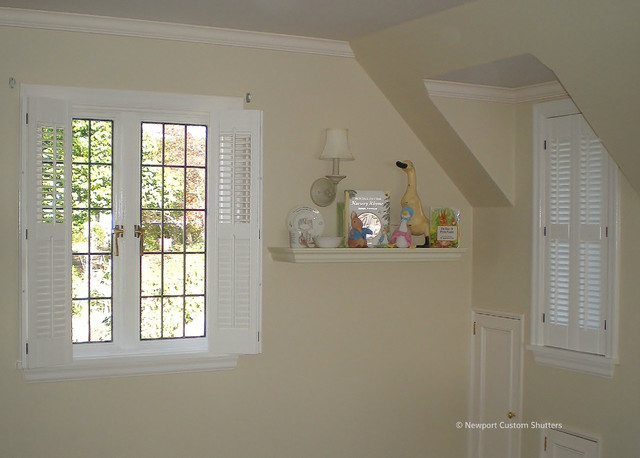 Traditional Small Louver Shutters Traditional Kids Seattle By Newport Custom Shutters
