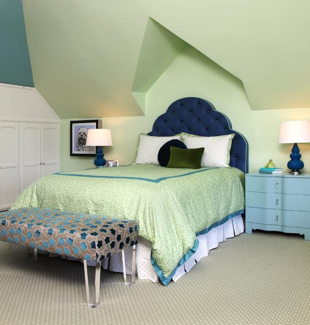 Kids Bedroom Wall Decor Bedroom Designs Latest Bedroom Ideas For Quadruplets Bedroom Blue Carpet: Traditional Teenage Girl's Room, Hillsborough