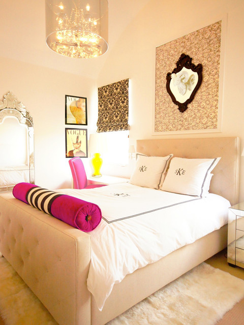 Hollywood Regency Teenager's Bedroom - Transitional - Kids - Austin - by Courtney Blanton Interiors, CID