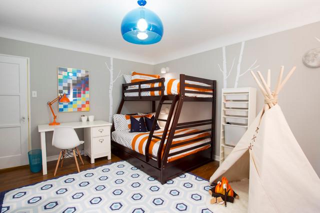 Happy Camper Boy S Bedroom Transitional Kids Los