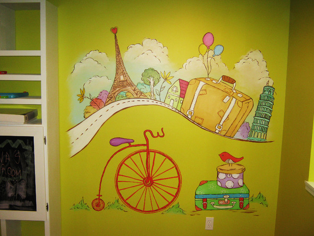 Travel Theme Playroom Modern Kids St Louis By