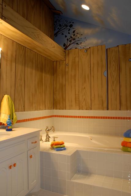 Tree house bathroom eclectic kids minneapolis by gabberts design studio - Tree house bathroom ...